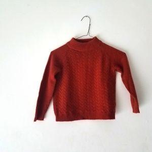 CARAMEL 100% Cashmere long sleeve Highneck Sweater